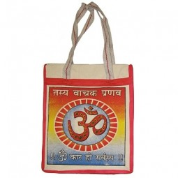 Indian Cotton Bag Om Sign 30 x 30
